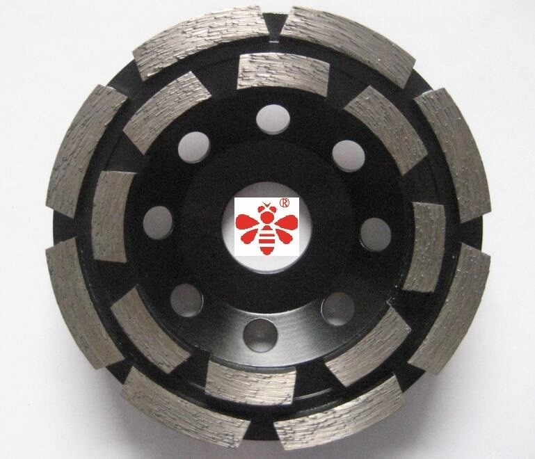 "5 "" 6 "" Concrete  Diamond Cutting Blade  Cold Pressed Double Row Cup  Economical"
