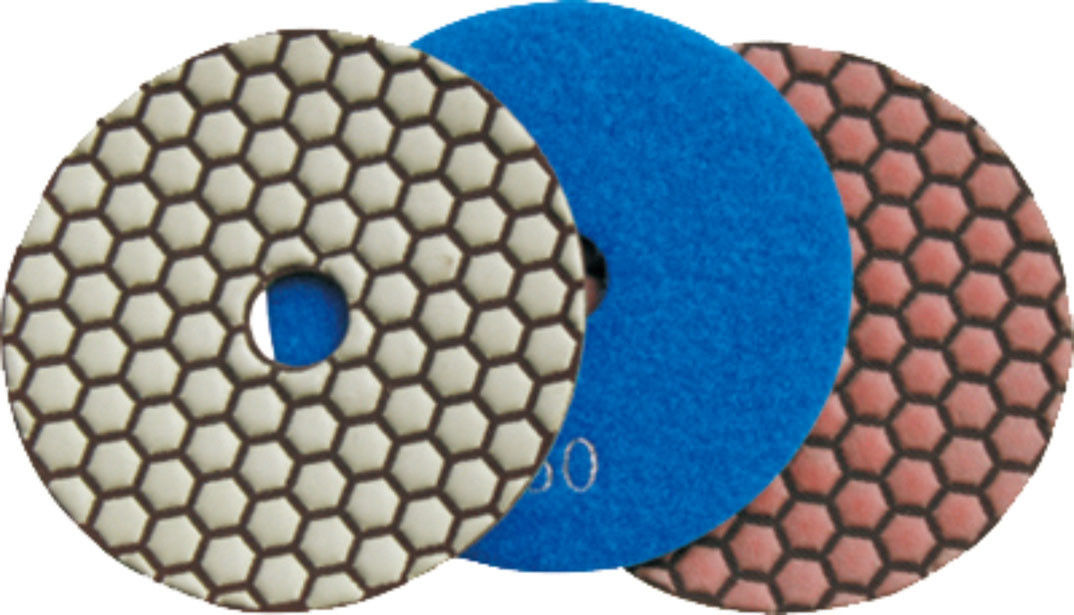 150mm Dry Diamond Polishing Pads For Granite , Concrete , Quartz Stone