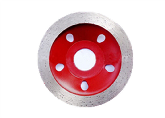 Red Green Diamond Cup Wheel Sintered Continuous Rim Cup Wheel Good Abrasion Resistancea